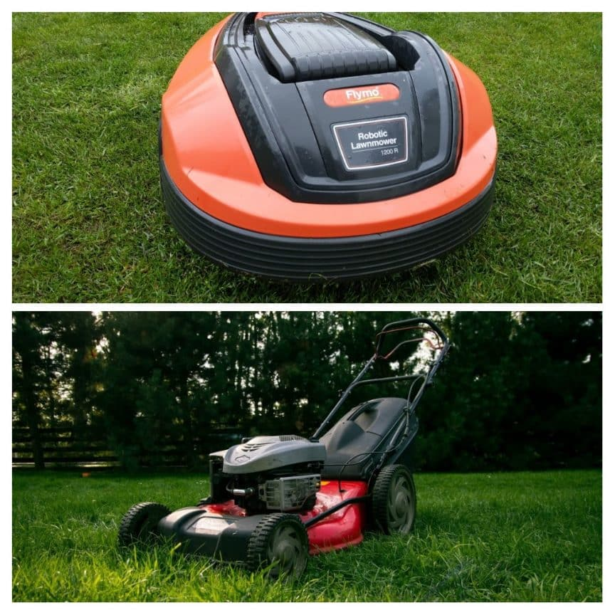 robot mower versus conventional lawnmower my robot mower