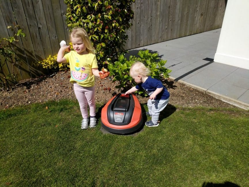 are robot mowers safe my kids