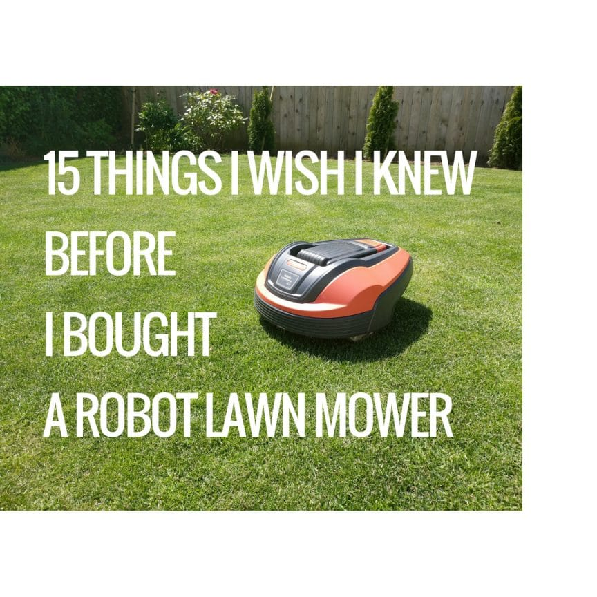 15 things i wish i knew before i bought a robot lawn mower