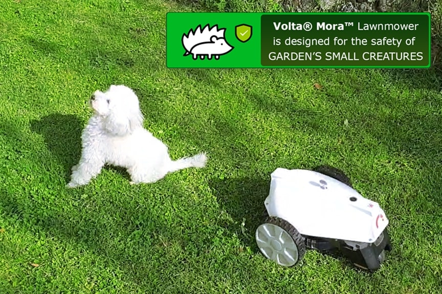 volta mora robot lawnmower is much safer than other robot mowers