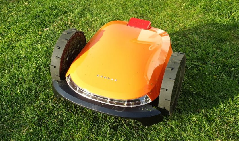 canvas robot lawnmower